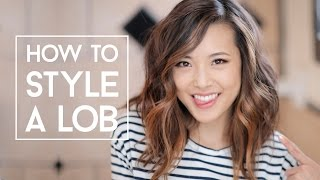 How To Style A Lob (No Heat & Curls)