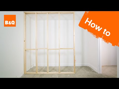 How to build a stud wall