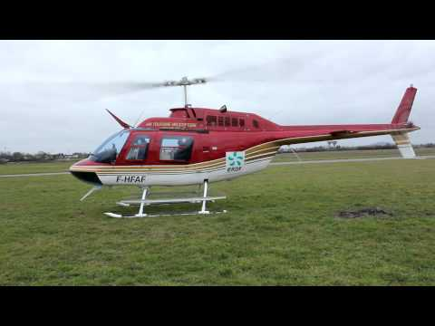 Start up Bell 206 JetRanger in Alençon