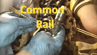 How To Change a Common Rail Injector.  Cat, Cummins, and International.
