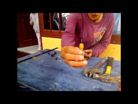 Bagaimana cara membuat mata kail pancing khusus udang terbuat dari kawat baja stainless