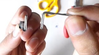 How to make Perfect Lock Picks with Paper Clips!!!
