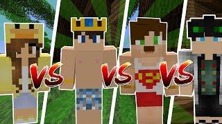 4 KİŞİ ! HERKES KAPIŞIYOR ! (Minecraft)
