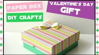 How to make an Easy Paper Box - DIY Paper crafts for teenagers - Birthday Gift Ideas - Giulia's Art