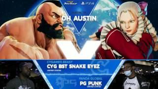 SFV: CY BST SnakeEyez vs PG Punk - Dreamhack Austin 2017 Top 8 - CPT2017