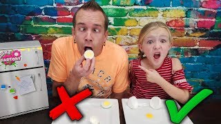 Real Food vs Prank Slime Food With My Dad!!! Slime Switch Up Challenge!