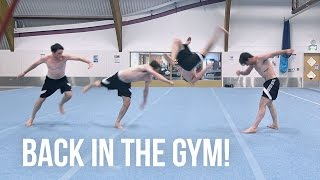TRICKING AT MY HOME GYM!