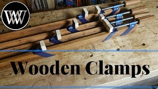 How to Make a Clamp - Wooden Beam or Pipe Clamps Build With Oak