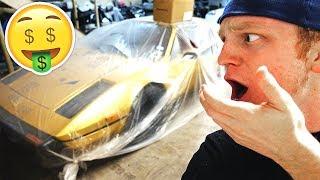 I FOUND AN ABANDONED GOLDEN FERRARI... *$300,000+*