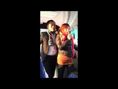 Osaka Japan CM Mrs Duc Hanoi Vietnam sharing in Bus