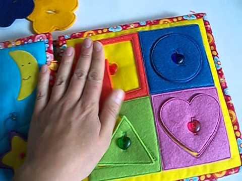 Развивающие книжки для детей своими руками из ткани
