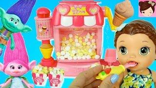 Moon Dough Toy Popcorn Maker Ice Cream Shop - Trolls Poppy Baby Alive Doll
