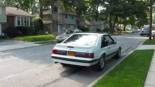 Mustang lx Hatchback 5.0 exhaust Flowmaster american thunder