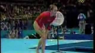 Kristen Maney - Famous Crash on Vlt - 2000 Sydney Olympics