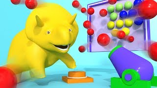 Play with The Bubble Shooter ! - Learn with Dino the Dinosaur 👶 l Educational Cartoons for Kids