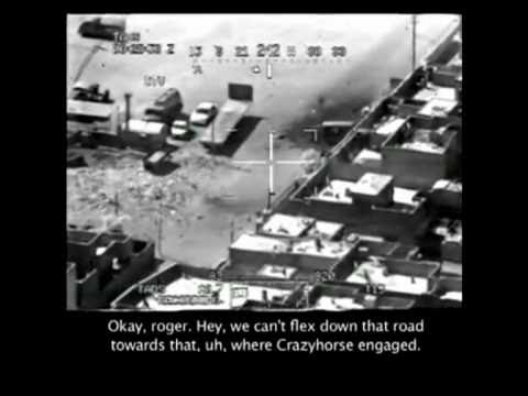 WAR footage 15KILLED DEATH FROM ABOVE MUST SEE A GUNCAM FROM AN APACHIE BUMSHIP.