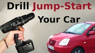 Jump - Start Your Car Using a Battery from the Drill