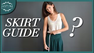 Good skirts for your body type | SKIRT GUIDE | Justine Leconte