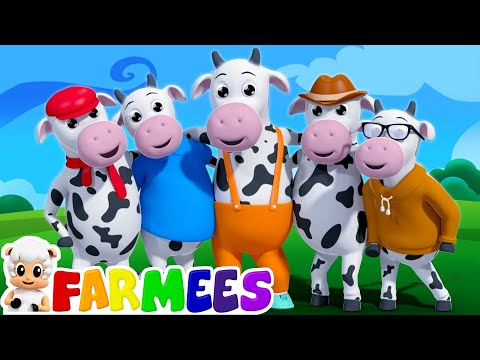 Xxx Mp4 Five Little Cows Nursery Rhymes 3d Rhymes Kids Songs Farm Song By Farmees 3gp Sex