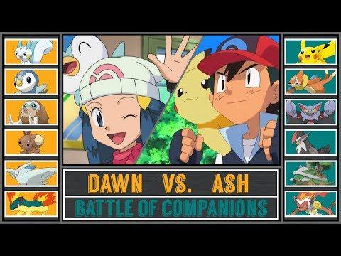 Ash vs. Dawn Pokémon Sun Moon Sinnoh Companion Battle