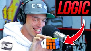 Rapper Logic Solves A Rubiks Cube During Freestyle! | BigBoyTV