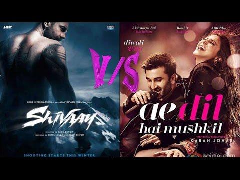 Box Office Ae Dil Hai Mushkil Vs Shivaay Guess Who Won The Opening Day   YouTube