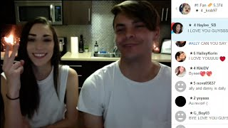 Ally Hills & Danny Padilla YouNow 7/11/16 ( My New House )