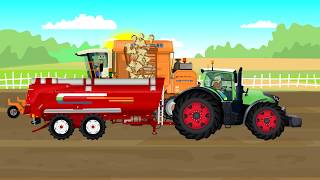 Agricultural Machinery, #Tractor, Beet harvester, Agricultural trailer | Maszyny rolnicze Bajki