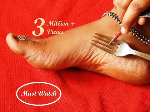 Xxx Mp4 Easy Latest Feet Mehndi Design With The Help Of Kitchen Utensile Fork Simple Shades Using Buds 3gp Sex