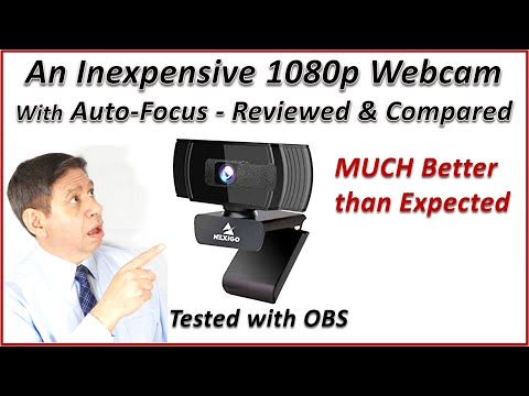 An INEXPENSIVE HIGH QUALITY WEBCAM The NEXIGO 1080p30 Box Opening Review and Comparison Test