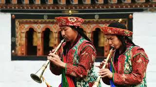 Buddhist music; Gyaling, Bhutan/Drukpa Monks offering religious music.