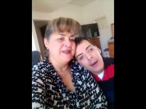 Arturo Lujan Palma & Mom, Arthur has mental disability, Rubinstein - Taybi Syndrom & try to sing.