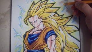 COMO DIBUJAR A GOKU SSJ3 / how to draw goku ssj3