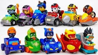 The Race Betwwen PJ Masks & Paw Patrol~!  - ToyMart TV