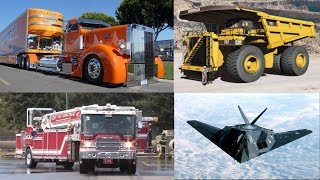 Learning Transport Vehicles for Children Toddlers | Learn Fire Trucks Dump Trucks for Kids Video