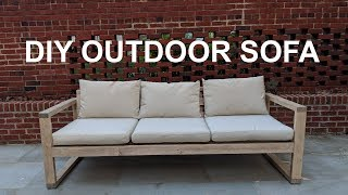 DIY Cheap Modern Outdoor Sofa | NATHAN BUILDS
