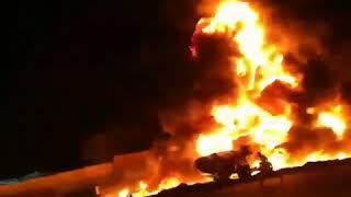 Iran, Sanandaj : un terrible accident entre un bus bondé et un camion citerne plein d