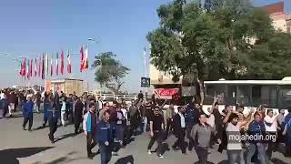 Iran, Ahvaz, The workers' demonstration begin from the Naderi Bridge outside the Bank Saderat