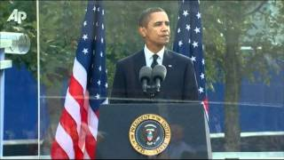 Obama Reads From Bible During NYC 9/11 Ceremony