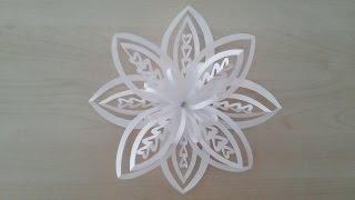 Volumetric 3D snowflake out of paper. 3D Paper Snowflake