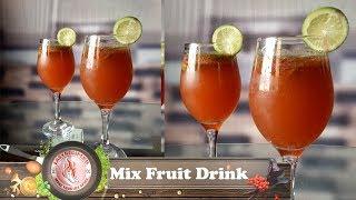 Mix fruit drink // মিক্স ফ্রুট ড্রিংক // #Easy Recipe BD Network