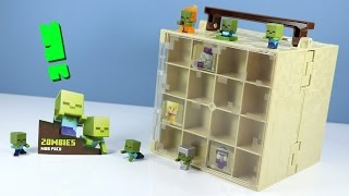 Minecraft Mini-Figure Zombie MOB Pack & Chest Series Collector Case