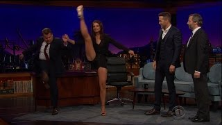Katie Holmes - Doing High Kicks With Her Long Legs 2-17-16