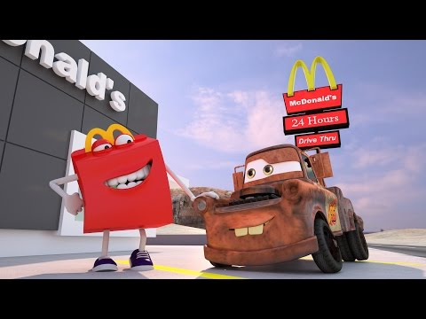 watch Mater Misbehaves at McDonald's ! Disney Pixar CARS TOYS MOVIES Happy Meal BURGER | Day: 1&2