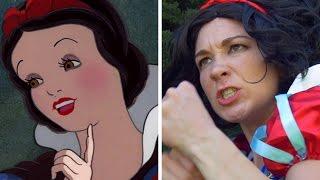 What If Disney Princesses Were Fighters • Elsa Vs. Snow White