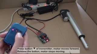 How to control linear actuator motor by ordinary 2ch rf remote control kit?