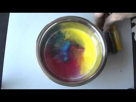 Experimentos caseros sencillos Leche colorante y jabón