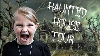 HAUNTED HOUSE TOUR!!   SO SCARY!!