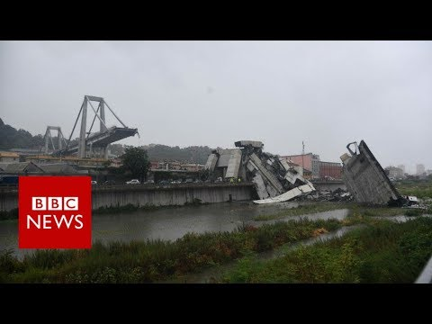 Xxx Mp4 Italy Bridge Moment Of Genoa Motorway Collapse BBC News 3gp Sex