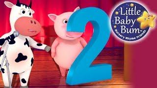 Numbers Song | Number 2 | Nursery Rhymes | Original Song By LittleBabyBum!